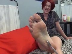 soles and blue toes