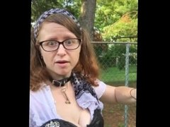 Fluffy Pirate Cosplay with Upskirts and Flashing Outdoors