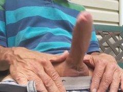 Masturbation on a park bench #3