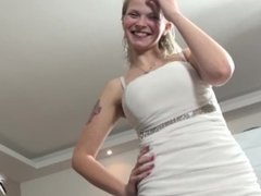 Slutry blonde ride strangers cock and her bouncing tits make him cum fast