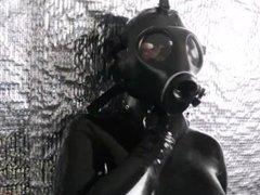 Gas mask full rubber encasement