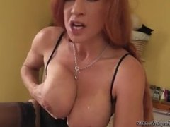 Redhead With Humongous Hooters Sucked Her Partner Dry In POV