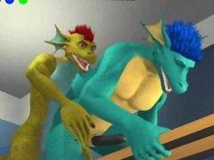 The Locker Room - SCALIE GAY ANAL HANDJOB CUMSHOT 3D ANIMATION