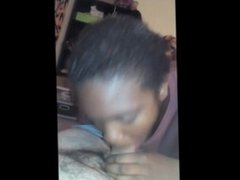 THICK EBONY CHICK SUCKING LATINO COCK AND GETTING FUCKED