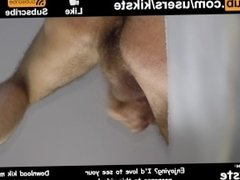 Pulsating Ass Orgasm While Cumming Into Hand