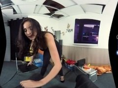 BaDoinkVR Anissa Kate Interrogating You With Her Pussy In Virtual Reality
