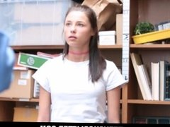 Cute Tiny Teen Shoplifter Carolina Sweets Fucked By Security