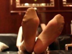 fantastic asian nylon soles feet