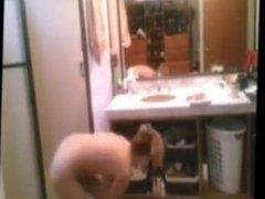 Hidden Camera Blonde Bathroom 4