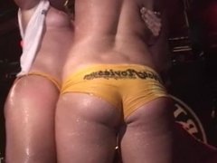 extra long and hot wet tshirt contest with lots of pussy being shown to all