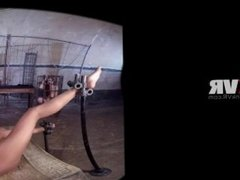 VR 360 - Bound Ebony Nikki Darling Gets All The Sex Toys In the Dungeon