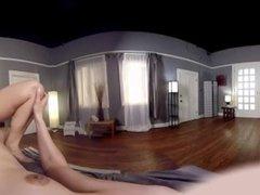 VR 360 - TS Kelli Lox Enjoys Big-titty Milf Angel Allwood Riding Her Cock