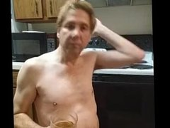 grandmother punishes grandson huge butt plug and drink a liter of his piss