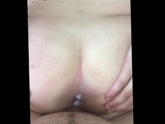 Cumming on my girlfriends asshole, than putting it back inside her pussy