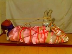 Wife has him hogtied and struggling