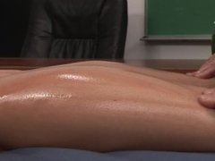 Barley Legal Blonde Teen Gets Dick And A Massage From Teacher