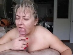 Mature BBW Sucking A Hard Cock Like A Pro