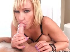 Big Tits MILF Cougar MELLANIE MONROE Fucked by Huge Cock CUM SWALLOW! A++