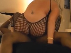Cheating MILF having sex with a black dude