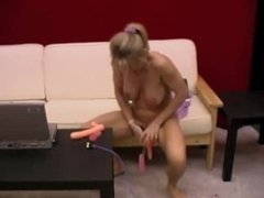 Mature Solo Toy Play Then Joined By Lesbian Lover