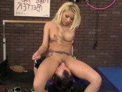 Marsha May Makes a Guy In The Gym Lick Her Sweaty Asshole - Femdom