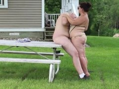 Blowjob on Picnic Table - Husband and Wife - Massive Facial -Public Oral