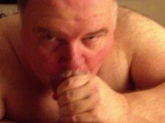 Big Chubby Bear sucking cock