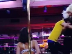 stripper gets crazy with a monkey and 4 twinks