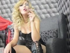 JessieRied - LiveJasmin - Smoking latex fetish part 2