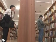 Japanese Man Masturbates in Library 1