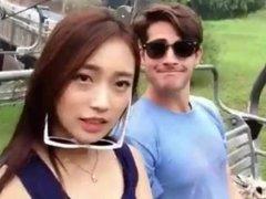 Korean slut fucks and sucks so many white guys