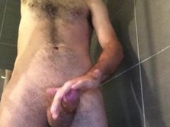 Thick cock shooting multiple streams of cum