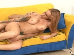 Tattoo Teen With Huge Tits Rides Big Dick- SCARLETT PAIN