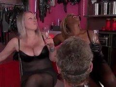 Mistress Ava black & friend spit PHLEGM on spoon for slave (my reupload)