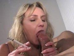 Busty, Blonde MILF Sucks & Titty Fucks A Big Cock!