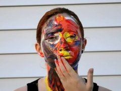 Paint Smeared All Over Face