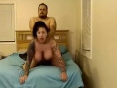 Busty tattooed girl gets fucked on cam. Chat livecam - Gamadestian.com