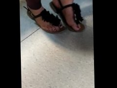 French blonde feet