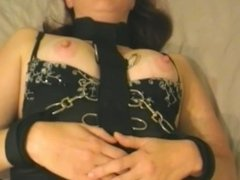 Nipple Clamps and bondage for cute Redhead