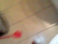 Boy Jerking off in the bathroom