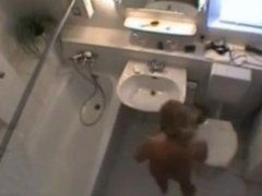 my blonde step sister naked in our bathroom