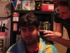The Completionist Gets His Head Shaved As He Promised! WE WON KING OF THE W