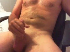 Morning masturbation with cumshot