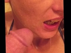 Pissing in mouth.first time