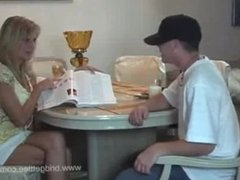 Bridgett Lee - Mother Helps Son with Homework
