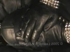 Leather Glove Domination and Leather Bondage
