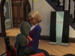 Hillary Clinton Gives Death a LapDance (Sims4)