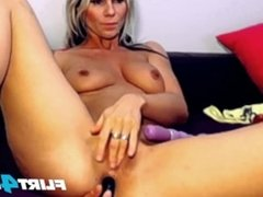 Nadya Doll Fondles Her Beautiful Pierced Clit and DP Herself