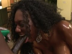 Big Booty Ebony MILF Gets Anal Cream Pie From Black Cock
