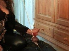 Femdom Handjob Torture Leather/Boots